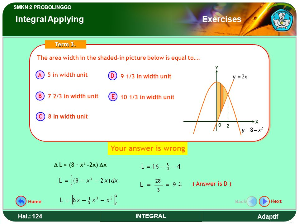 Integral Applying Exercises