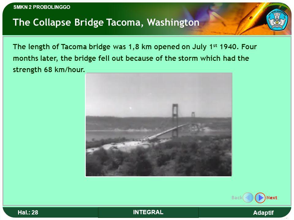 The Collapse Bridge Tacoma, Washington