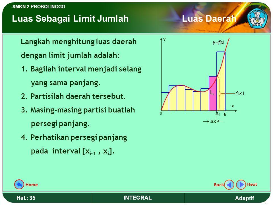 Luas Sebagai Limit Jumlah Luas Daerah