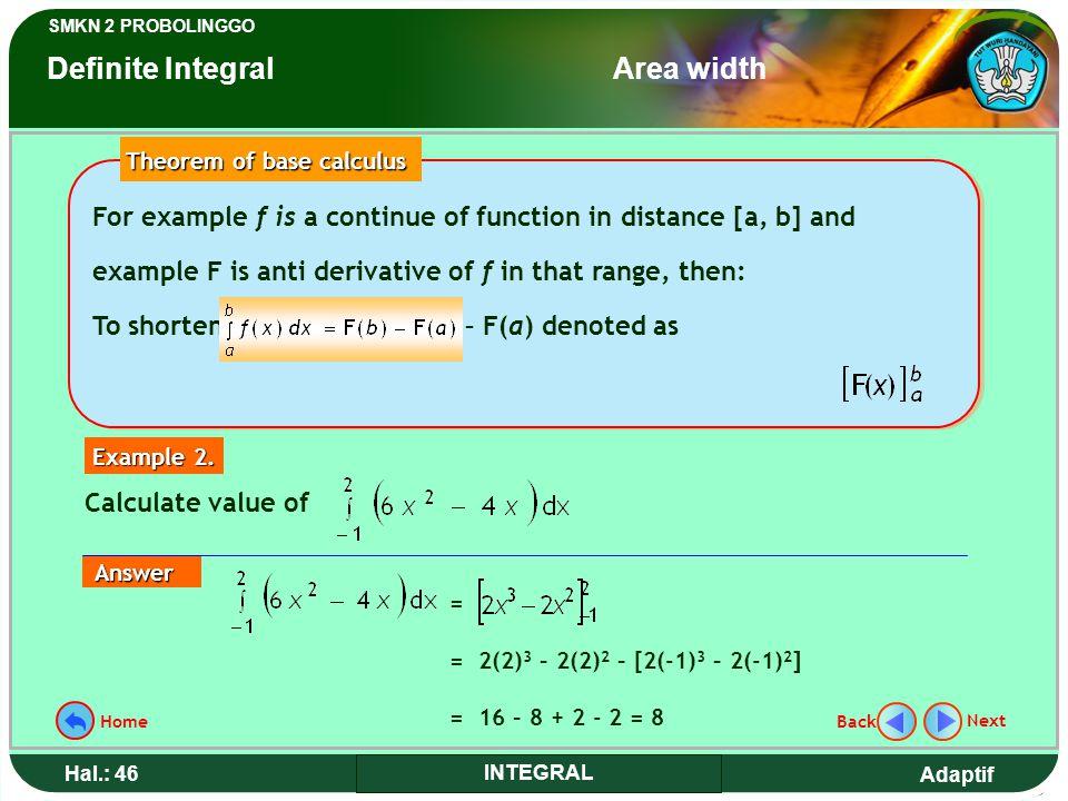 Theorem of base calculus