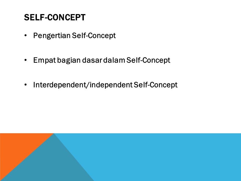Self-Concept Pengertian Self-Concept