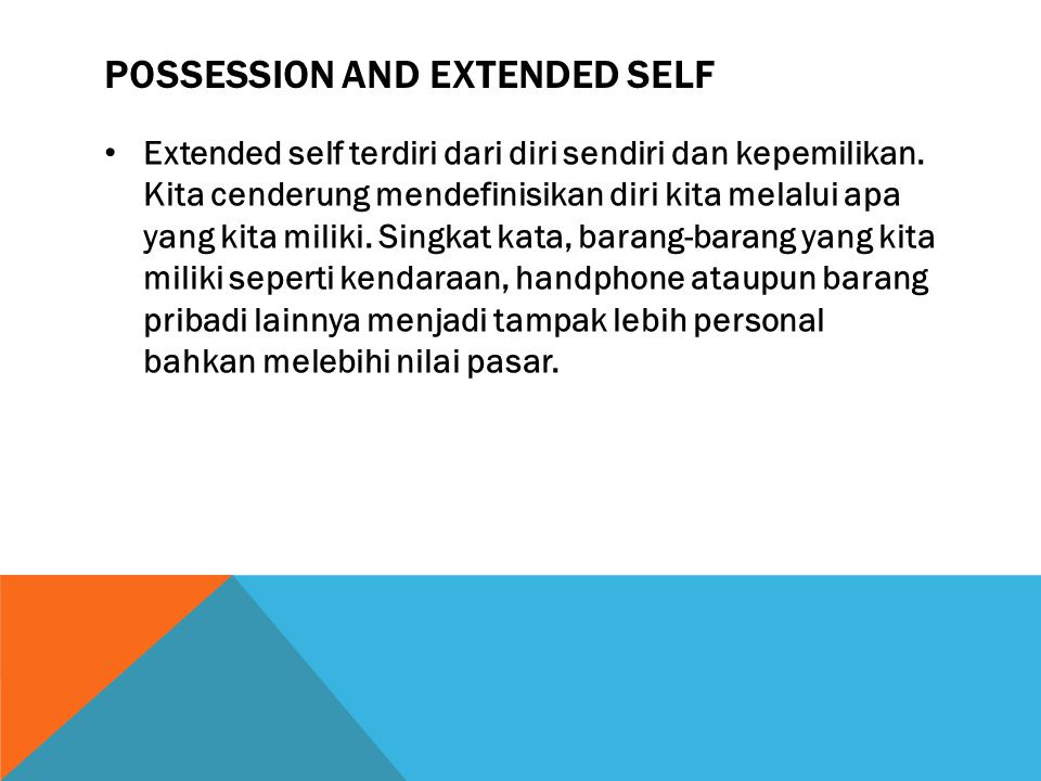 Possession and extended self