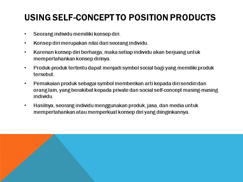 Using Self-concept to position products