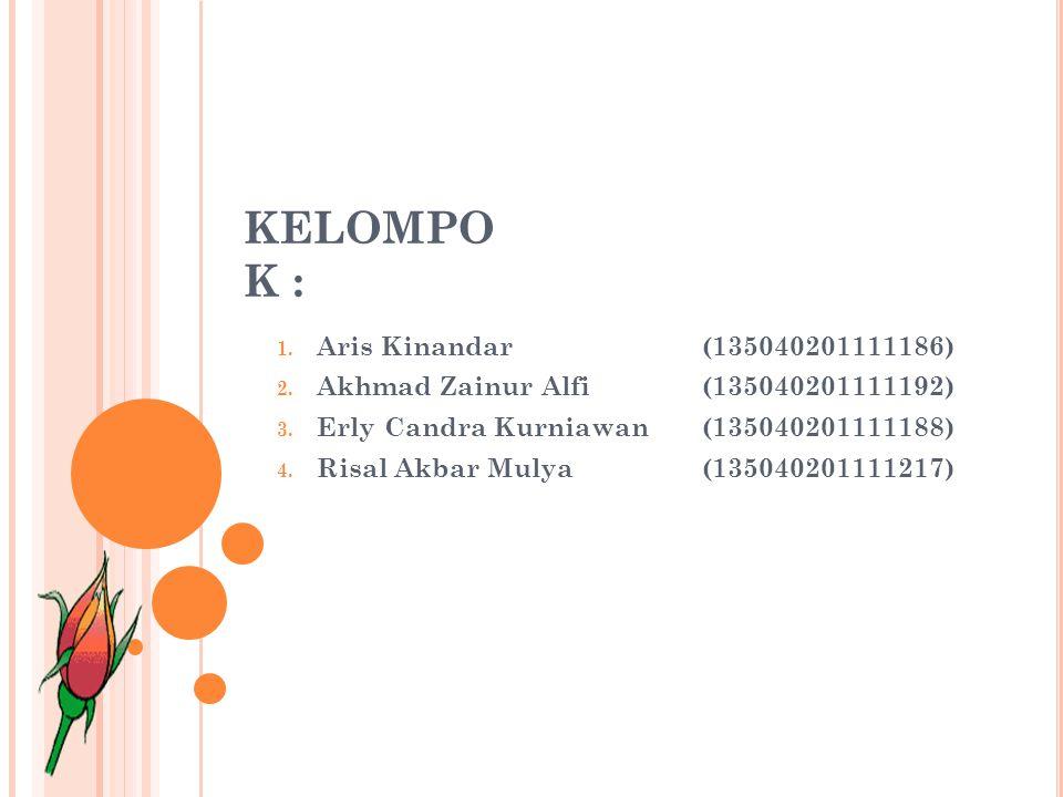 KELOMPOK : Aris Kinandar (135040201111186)