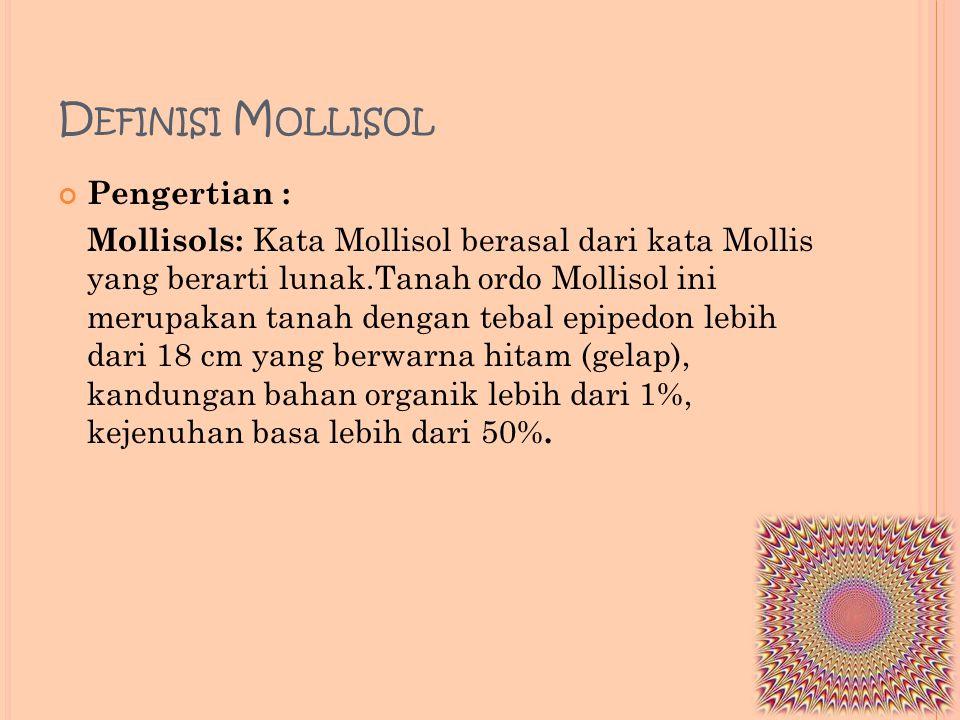 Definisi Mollisol Pengertian :