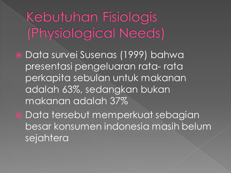 Kebutuhan Fisiologis (Physiological Needs)