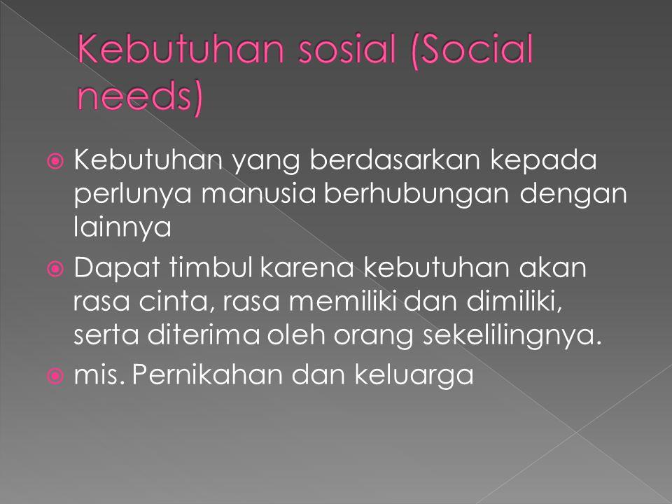 Kebutuhan sosial (Social needs)