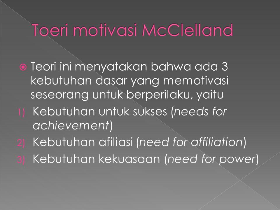 Toeri motivasi McClelland