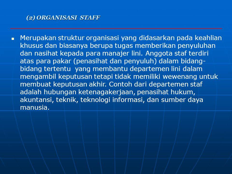 (2) ORGANISASI STAFF