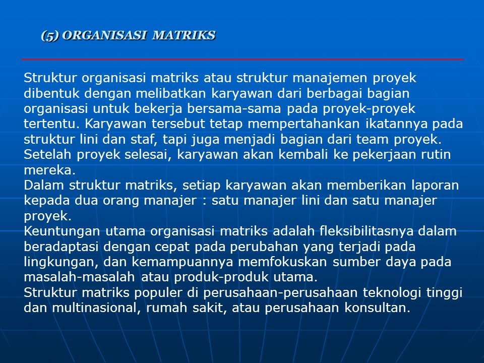 (5) ORGANISASI MATRIKS