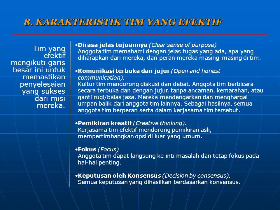 8. KARAKTERISTIK TIM YANG EFEKTIF