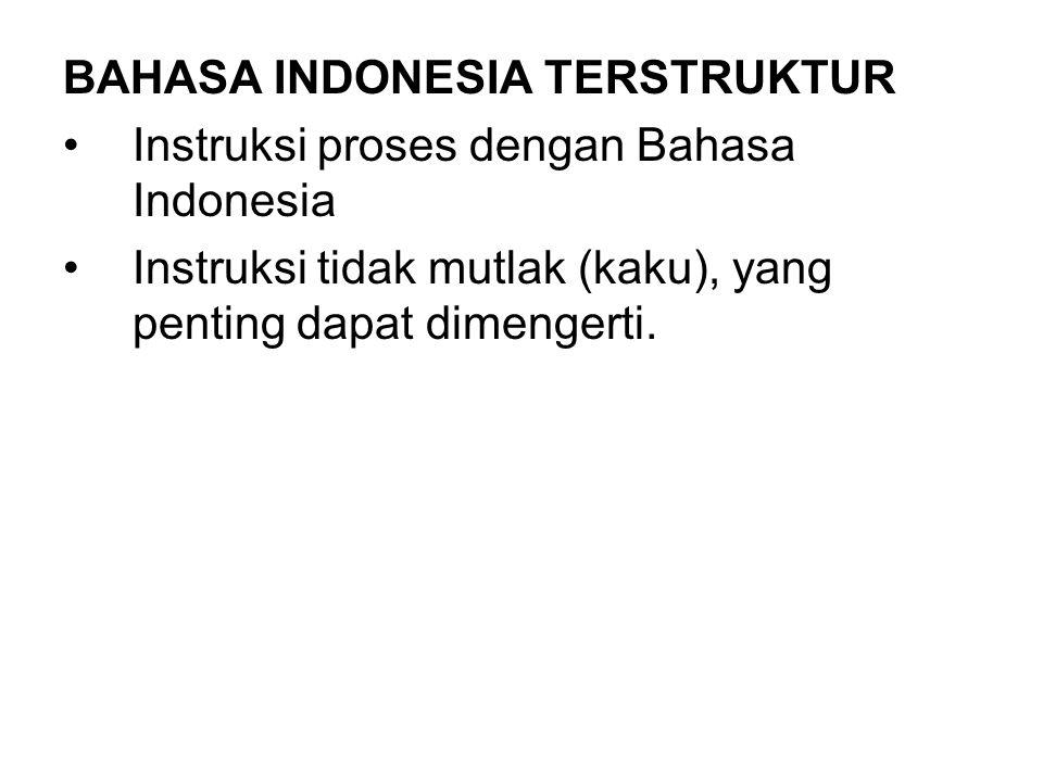 BAHASA INDONESIA TERSTRUKTUR