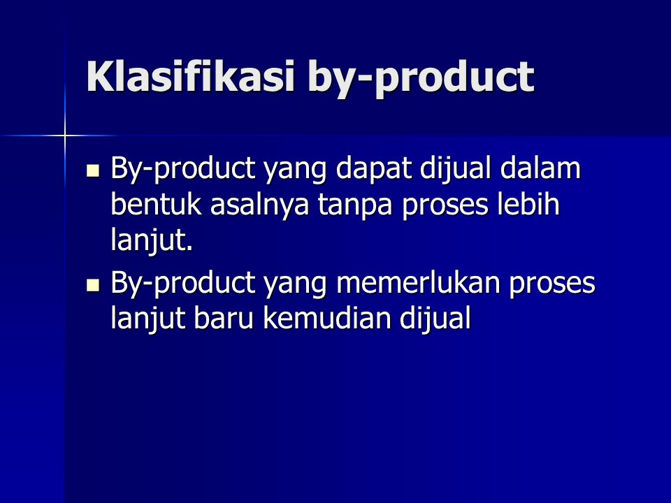 Klasifikasi by-product