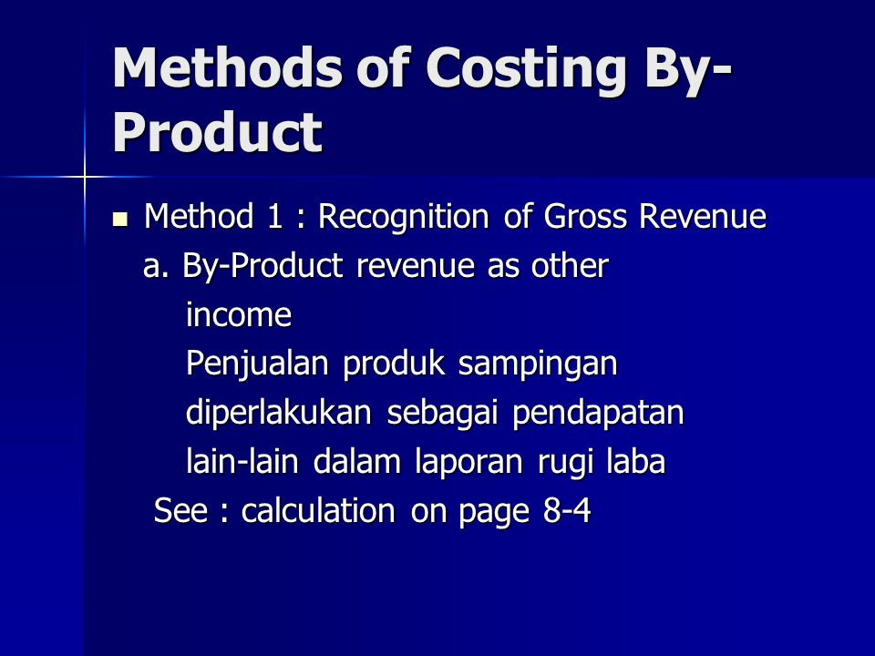 Methods of Costing By-Product