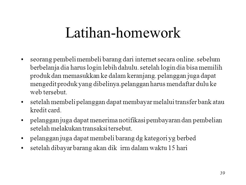 Latihan-homework