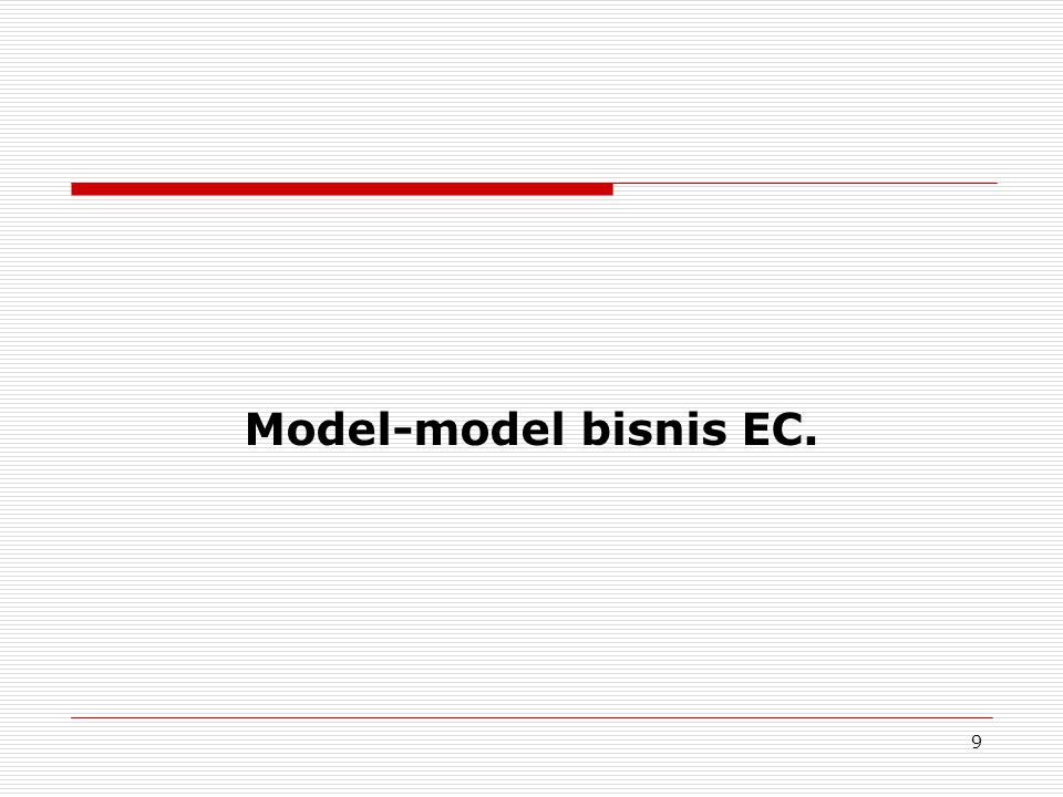 Model-model bisnis EC.