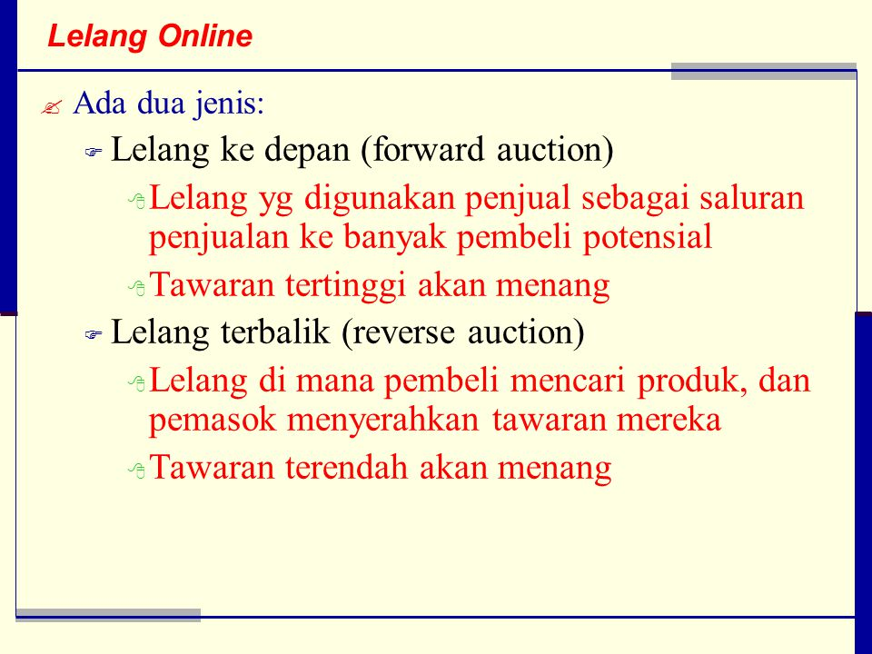 Lelang ke depan (forward auction)