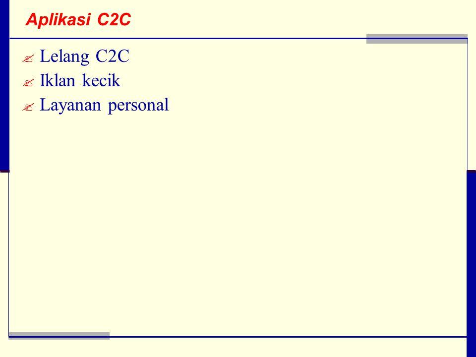 Aplikasi C2C Lelang C2C Iklan kecik Layanan personal