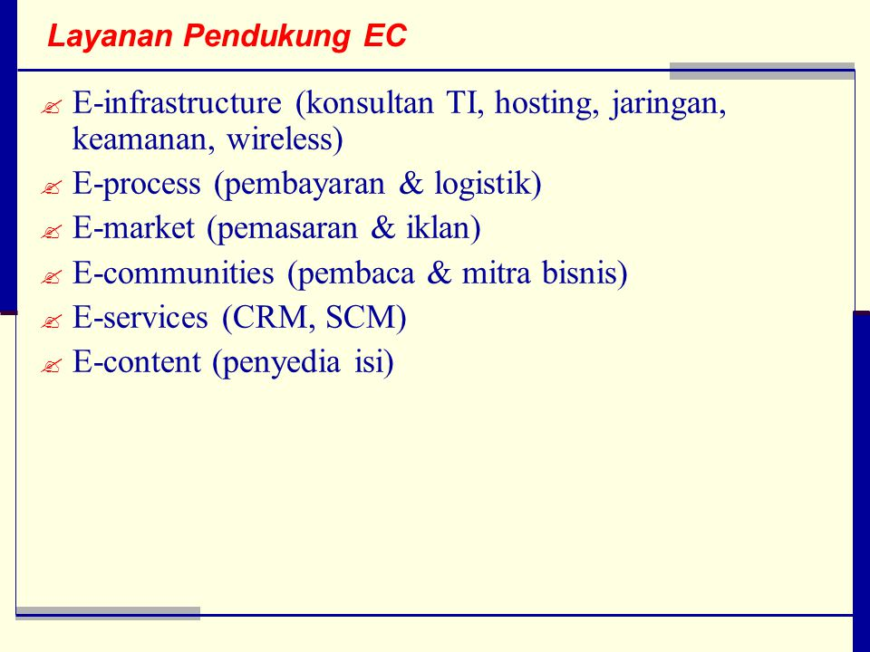 E-infrastructure (konsultan TI, hosting, jaringan, keamanan, wireless)
