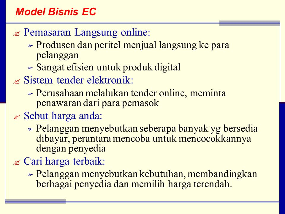 Pemasaran Langsung online: