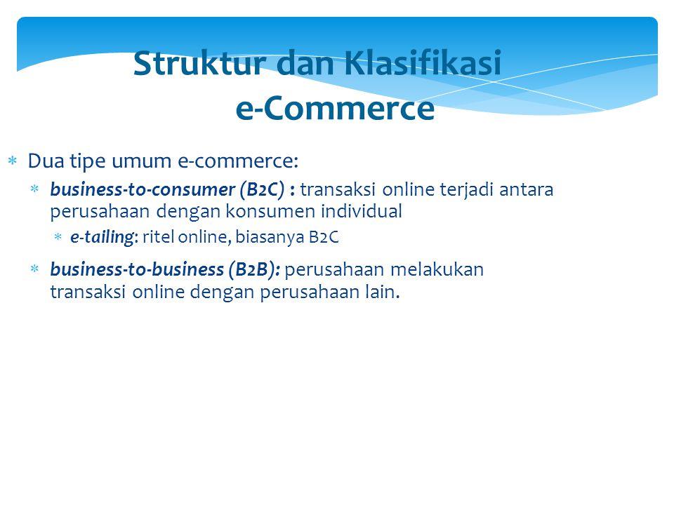Struktur dan Klasifikasi e-Commerce