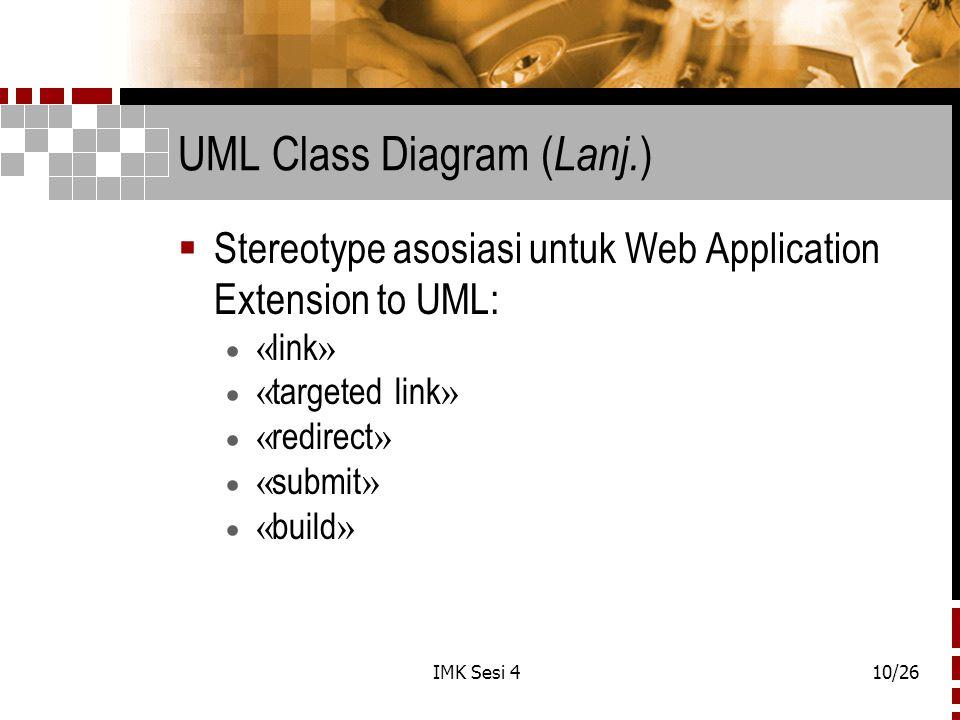 UML Class Diagram (Lanj.)