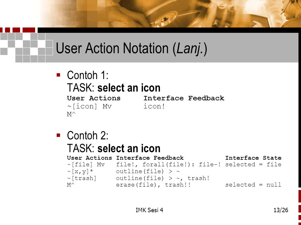 User Action Notation (Lanj.)