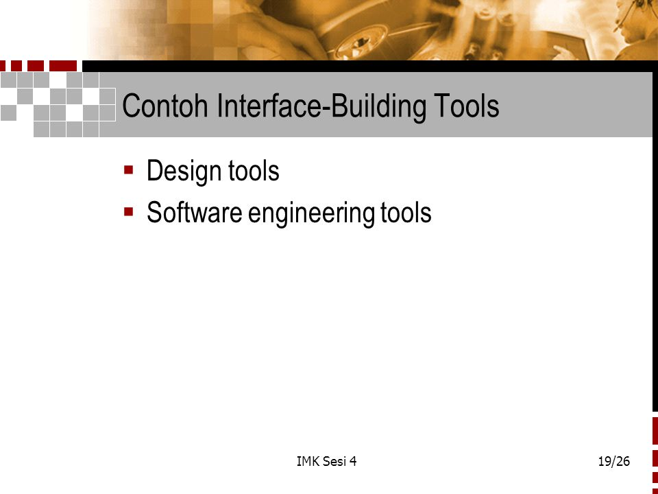 Contoh Interface-Building Tools