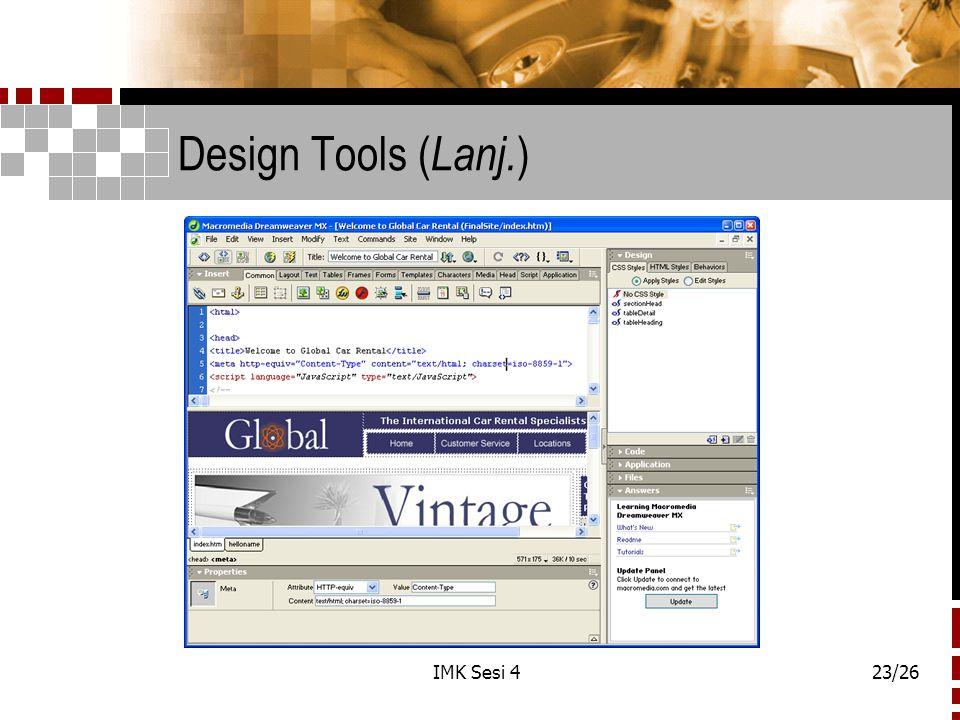 Design Tools (Lanj.) IMK Sesi 4