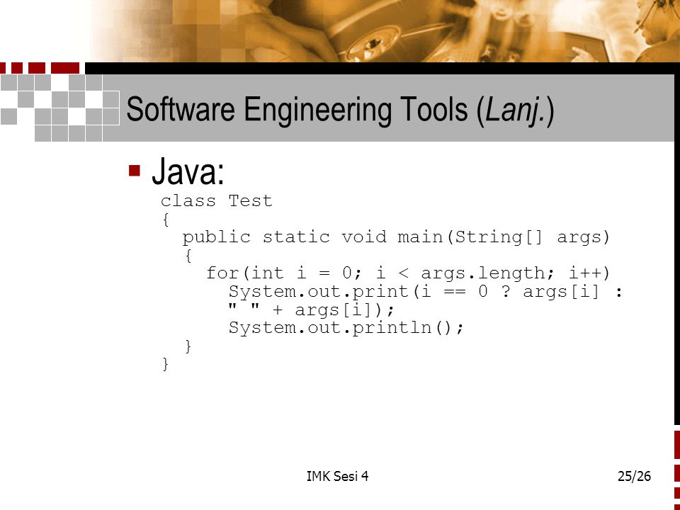 Software Engineering Tools (Lanj.)