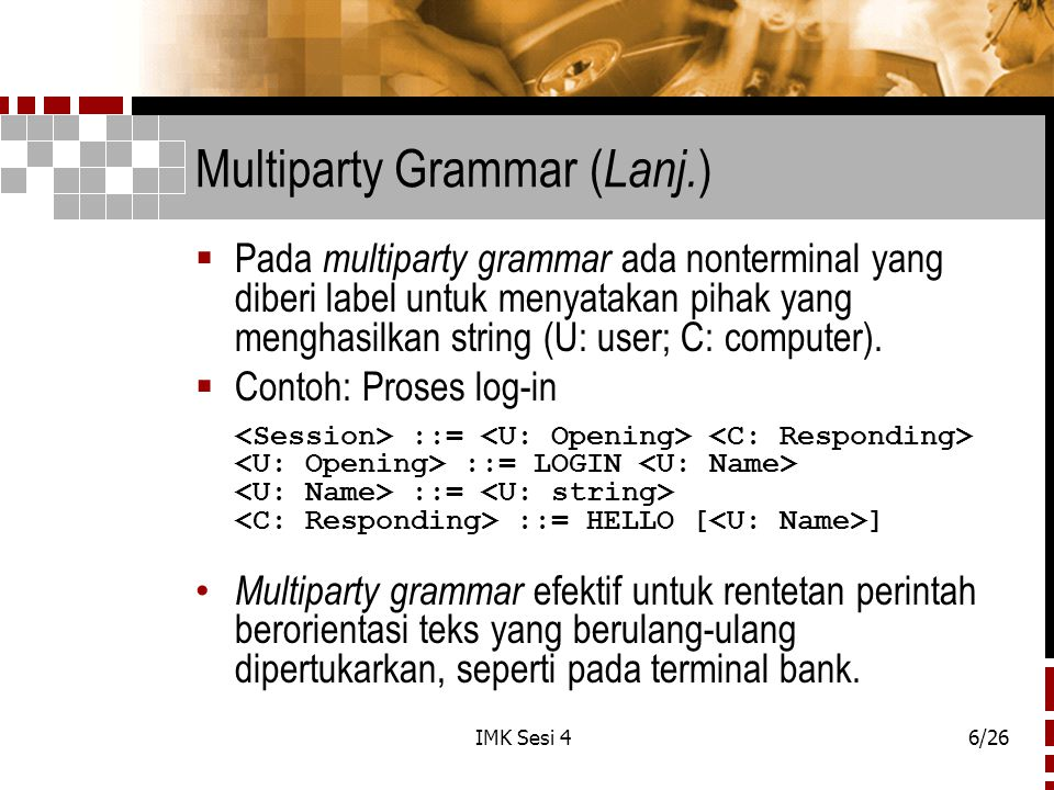 Multiparty Grammar (Lanj.)