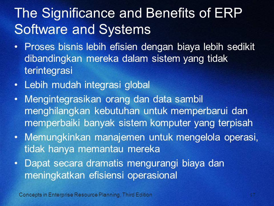 The Significance and Benefits of ERP Software and Systems