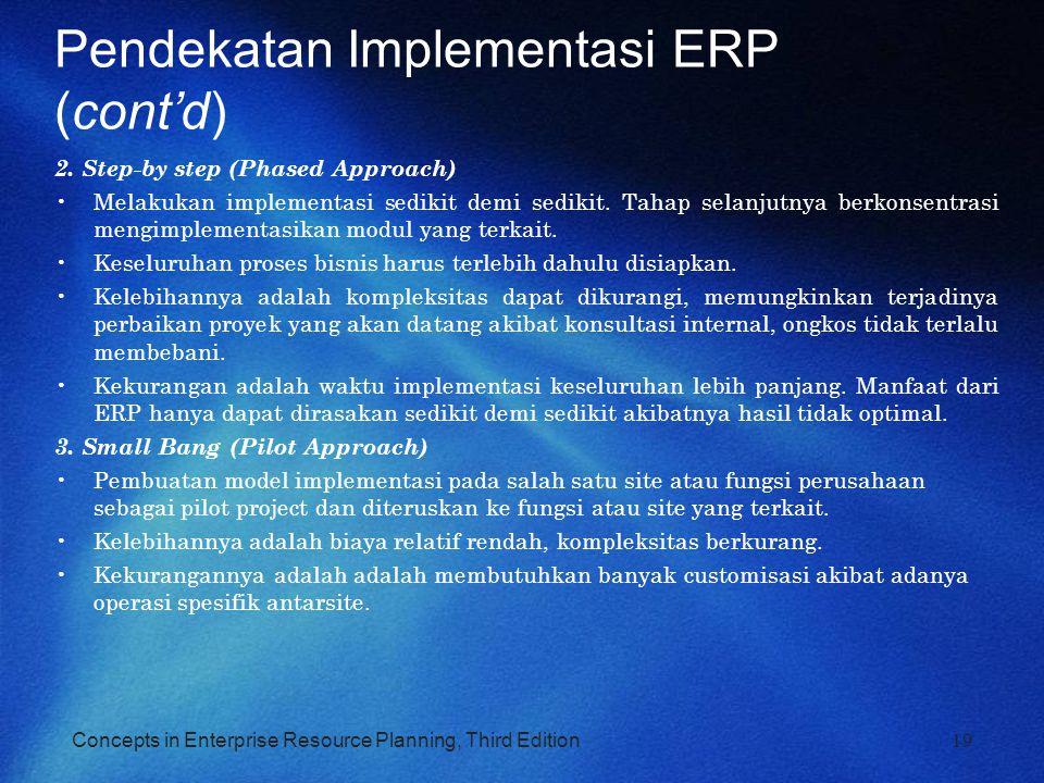 Pendekatan Implementasi ERP (cont'd)