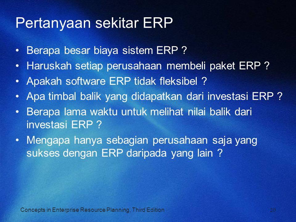 Pertanyaan sekitar ERP