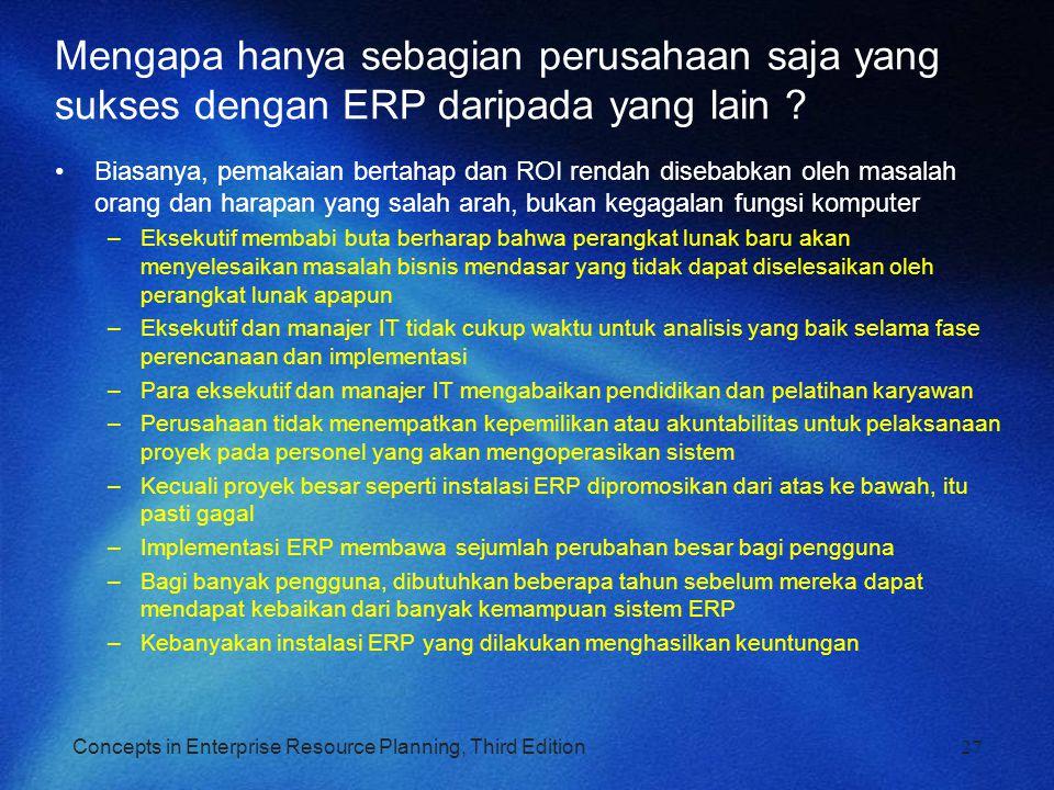 Mengapa hanya sebagian perusahaan saja yang sukses dengan ERP daripada yang lain