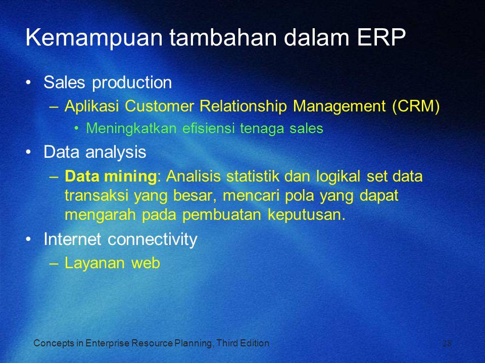 Kemampuan tambahan dalam ERP