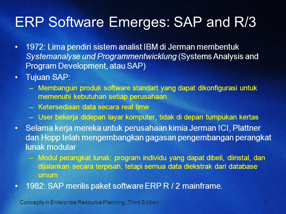 ERP Software Emerges: SAP and R/3