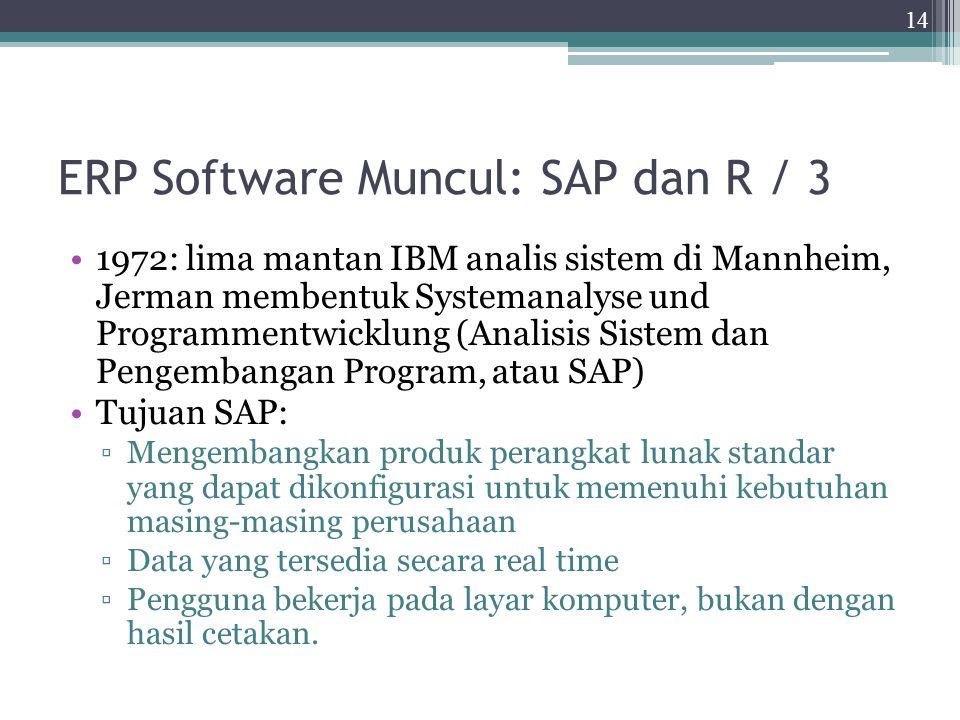 ERP Software Muncul: SAP dan R / 3