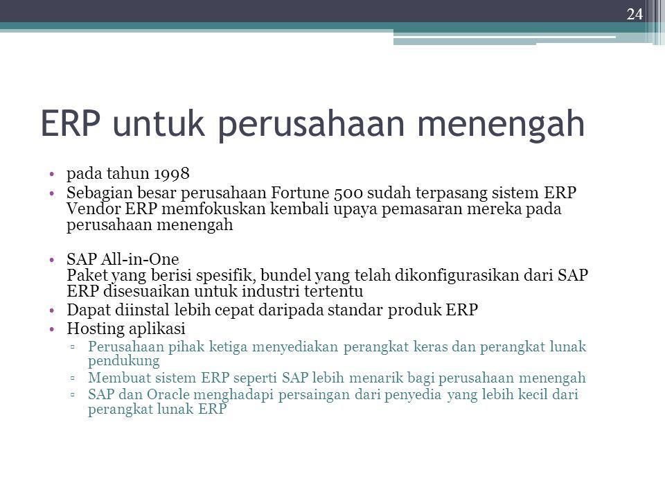 ERP untuk perusahaan menengah