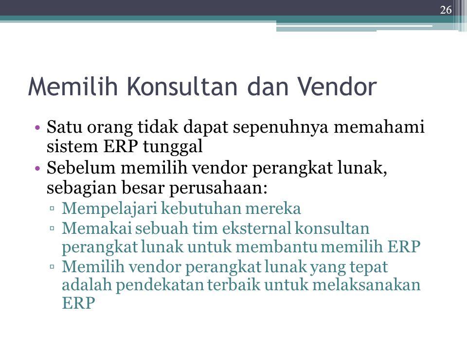 Memilih Konsultan dan Vendor