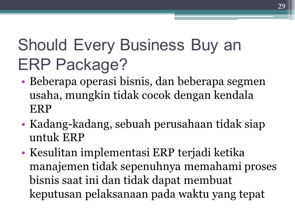 Should Every Business Buy an ERP Package