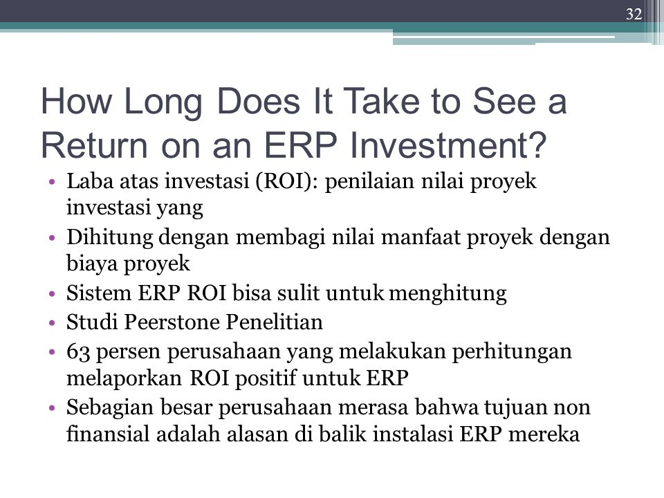 How Long Does It Take to See a Return on an ERP Investment