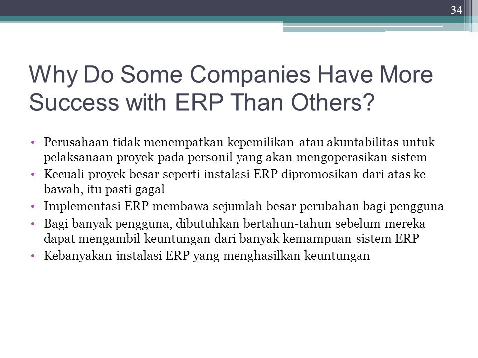 Why Do Some Companies Have More Success with ERP Than Others