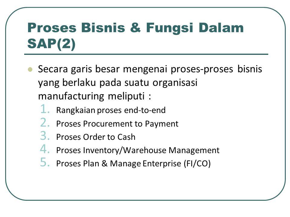 Proses Bisnis & Fungsi Dalam SAP(2)