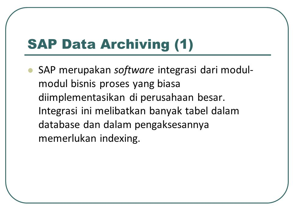 SAP Data Archiving (1)