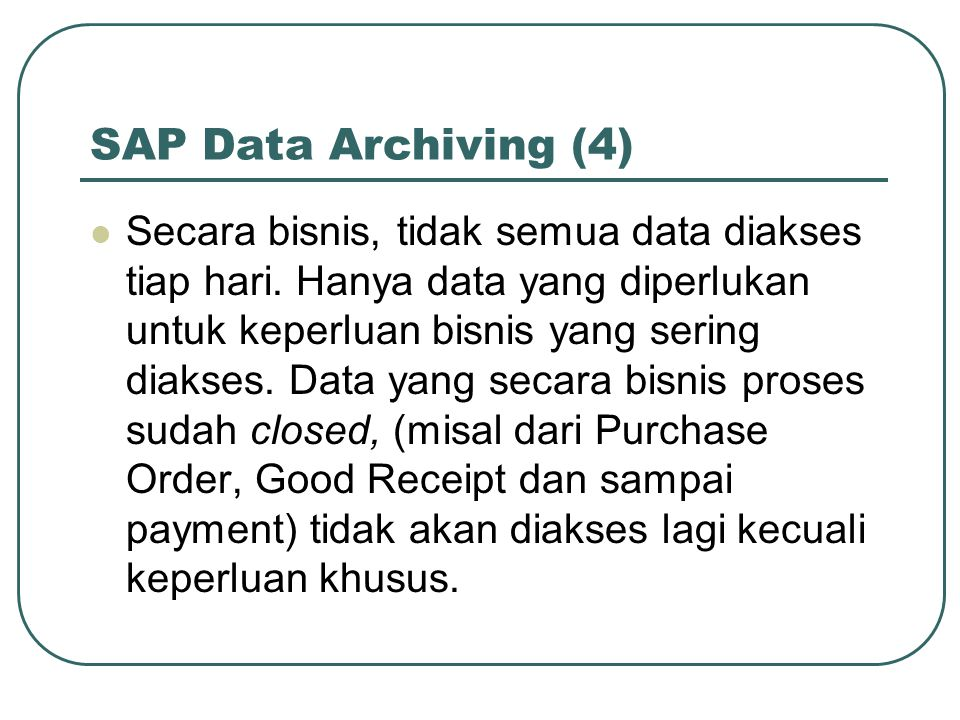 SAP Data Archiving (4)