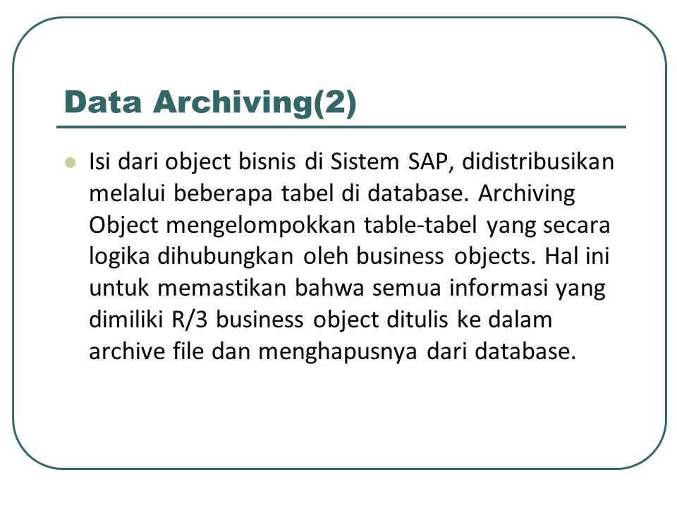 Data Archiving(2)