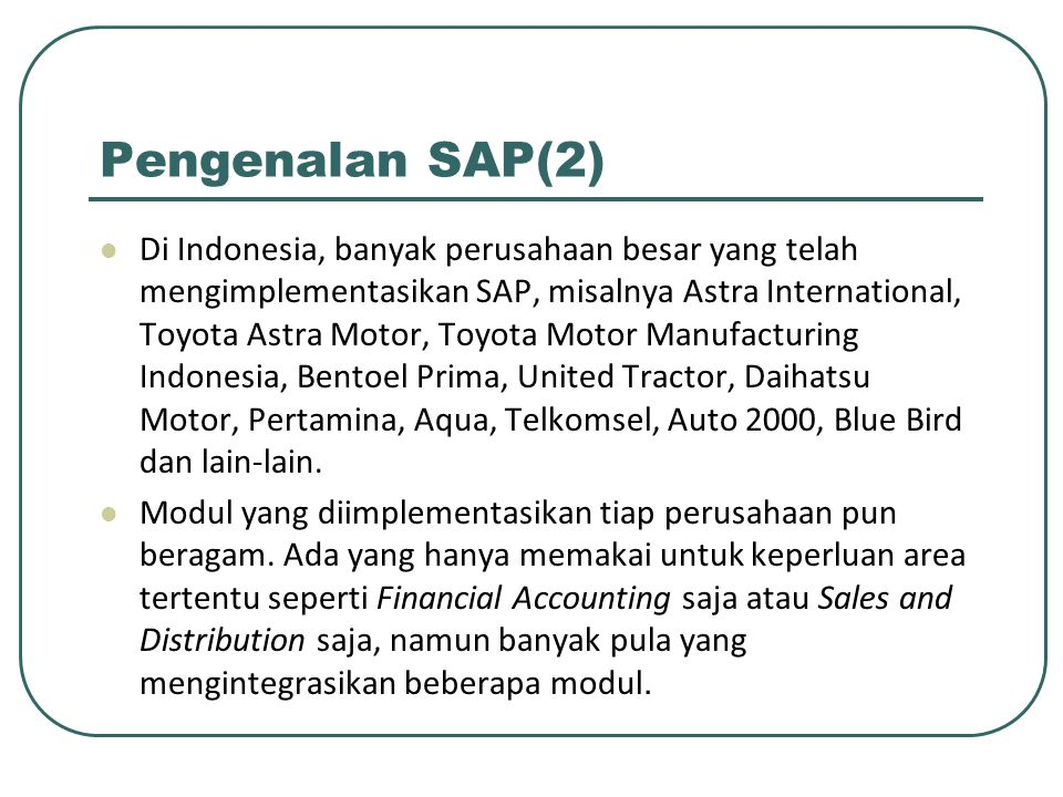 Pengenalan SAP(2)