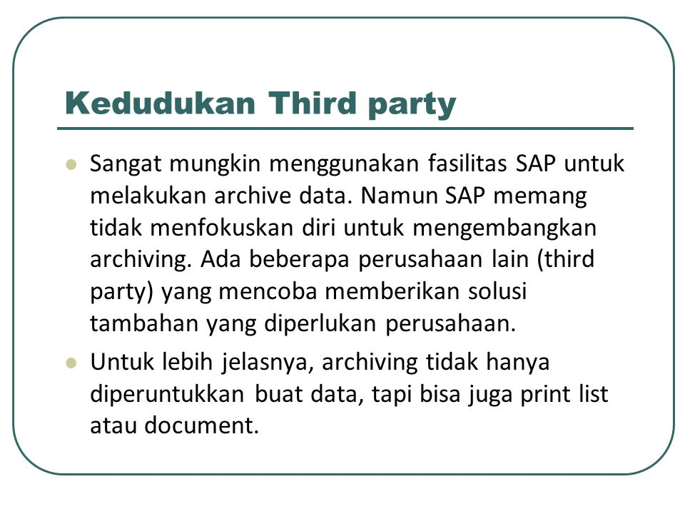 Kedudukan Third party
