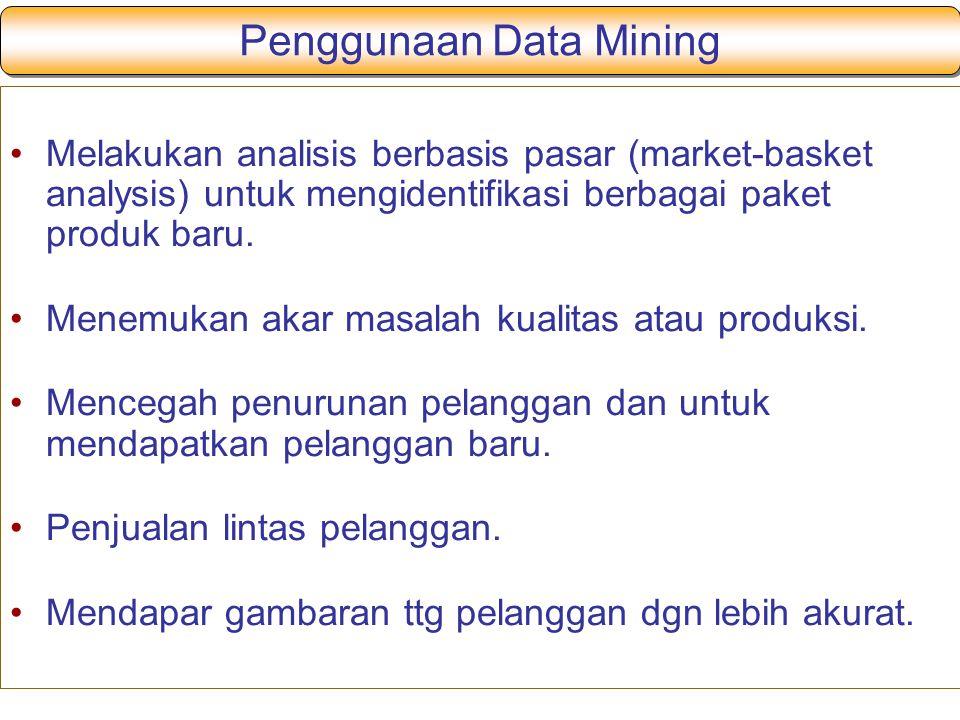 Penggunaan Data Mining
